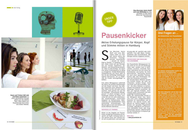 Pausenkicker in MEDIvitalis / September 2014