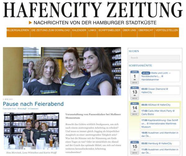 Pausenkicker Feierabend Training Hafencity Zeitung