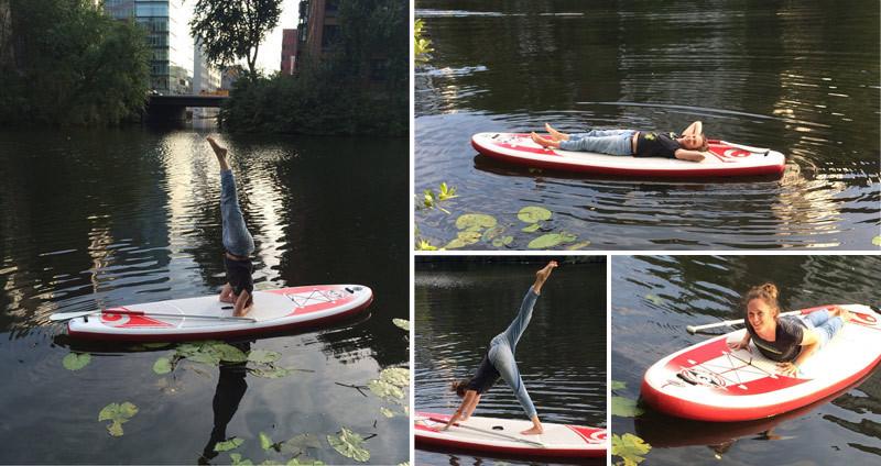 Pausenkicker SUP Yoga, Stand Up Paddeling, Entspannung, Balance, Mobilisation, auf dem Wasser