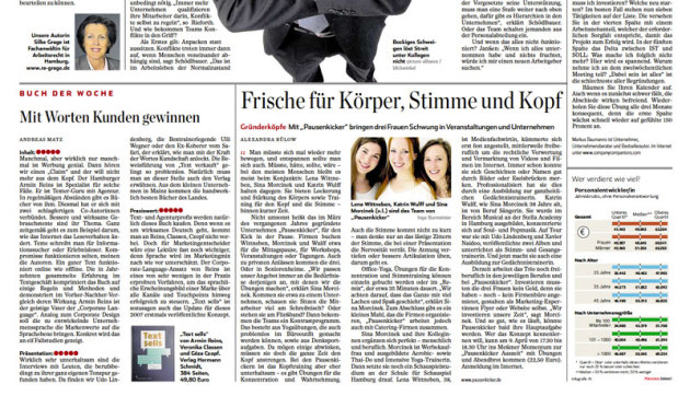 Pausenkicker im Hamburger Abendblatt